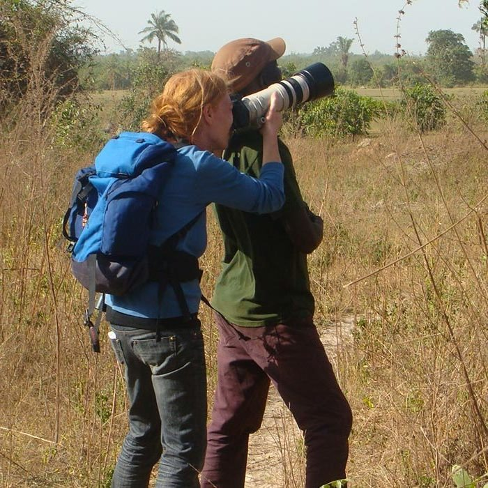 Hassan on a birdwatching tour in Gambia